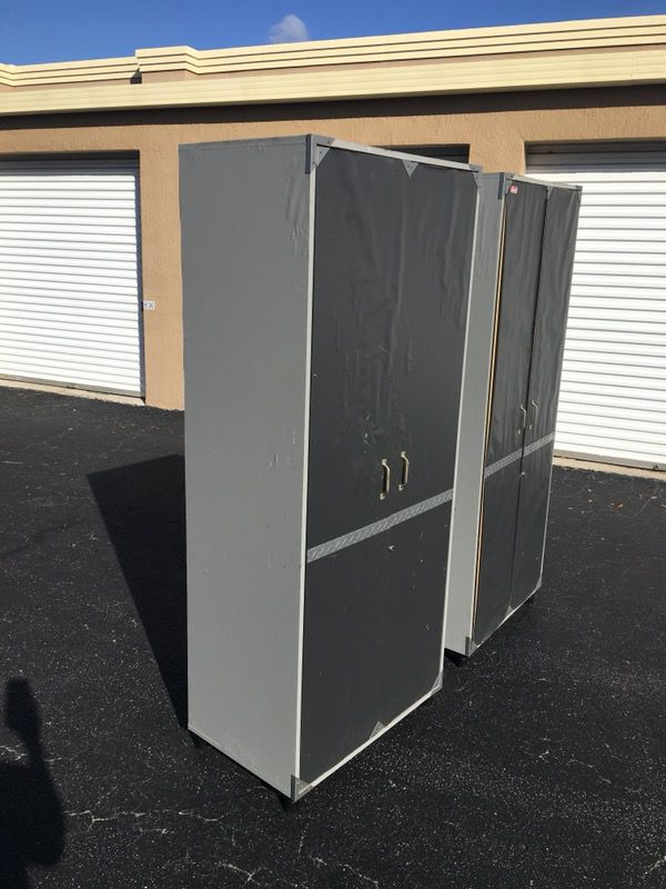 2 Coleman Tuff Duty Garage Cabinets Ideal Storage Shelves