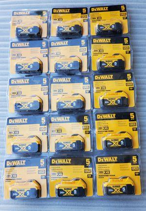 DeWALT 20V MAX LITHIUM ION XR 5.AH BATTERIES $65 EACH for Sale in Los Angeles, CA