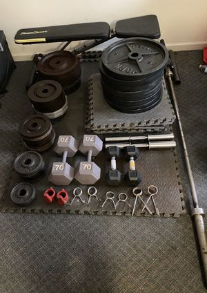READ DESCRIPTION Gym Equipment Sale (Olympic Weights/Barbell, Dumbbells, More) for Sale in Salisbury, MD