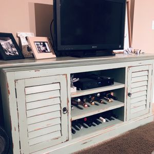 Antique Teal Two Door Cabinet / Entertainment Center for Sale in Washington, DC
