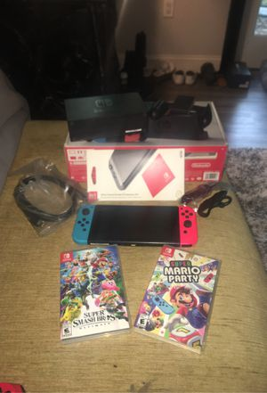 Nintendo Switch (Brand New) With 2 games!!! for Sale in Washington Crossing, PA