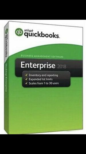 Quickbooks Enterprise 2018 Genuine Lifetime Key for Sale in Brooklyn, NY