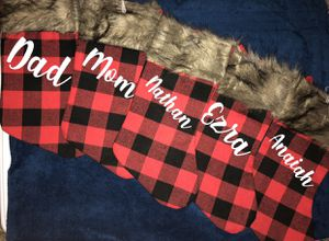 Buffalo Plaid Stockings personalized for Sale in Fresno, CA