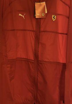 Puma Scuderia Ferrari T7 City Runner Light Rain Jacket Men's Sz L for Sale in Oklahoma City,  OK
