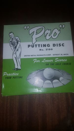 """Vintage - """"Pro"""" Putting Disc for Sale in Dinuba, CA"""
