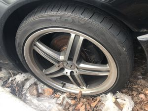 "18"" Mandrus wheels and tires 5x112 off a 99 Mercedes E430 for Sale in Johnston, RI"