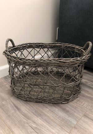 Basket for Throw Blankets for Sale in Glendale, CA
