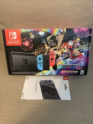Nintendo Switch - Mario Kart bundle with screen protector for Sale in Glendale, AZ