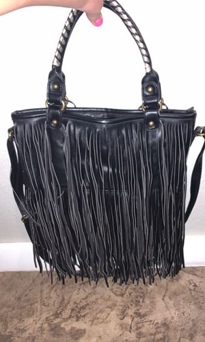 Black Frenges purse for Sale in Tuscola, TX
