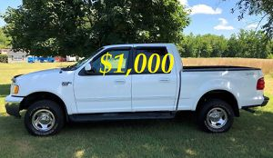 $1,OOO I'm seling URGENTLY 2OO2 Ford F-150 XLT Super Crew Cab 4-Door Pickup Everything is working great! Runs great and fun to drive!!!! for Sale in Norfolk, VA