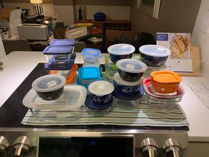 24 glass food containers in perfect condition for Sale in Washington, DC