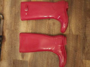 Rain boots red for Sale in Stone Mountain, GA
