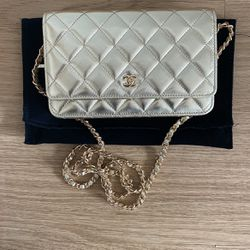 Chanel Metallic Light Gold WOC Wallet On The Chain for Sale in Fairfax,  VA