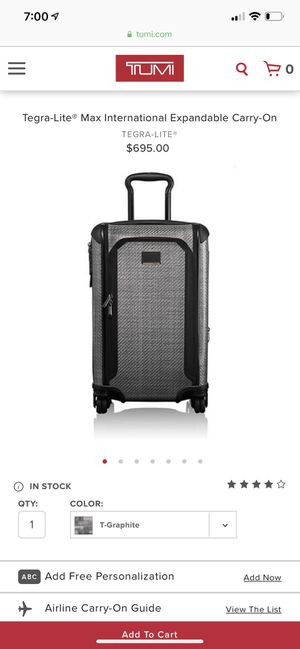 TUMI Tegra-Lite Carry On - brand NEW for Sale in San Francisco, CA