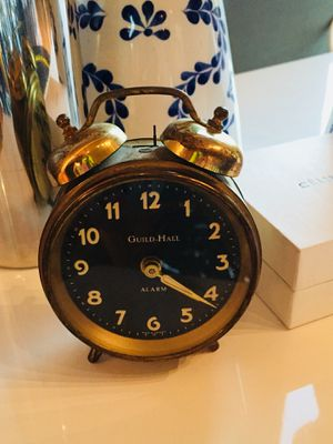 Antique brass alarm clock windup - chic decor Hollywood regency for Sale in Portland, OR