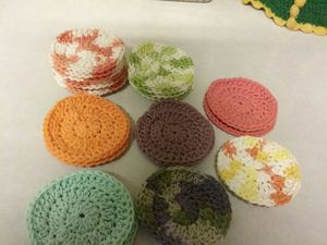 New 100% cotton face scrubbies. Good for removing makeup. Throw in mesh bag to wash. Smoke and pet free home. .60ea or 10 for 5.00 for Sale in Tacoma, WA