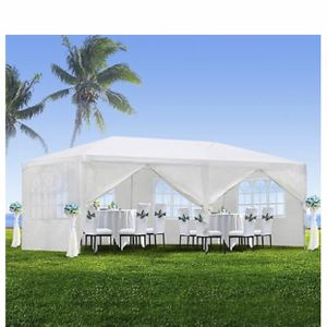 10'x20' White Waterproof Outdoor Gazebo Canopy Wedding Beach Party Tent 6 Removable Window Walls for Sale in Vista, CA