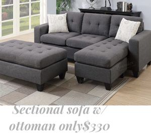 Dark grey sectional sofa ottoman included for Sale in Norwalk, CA
