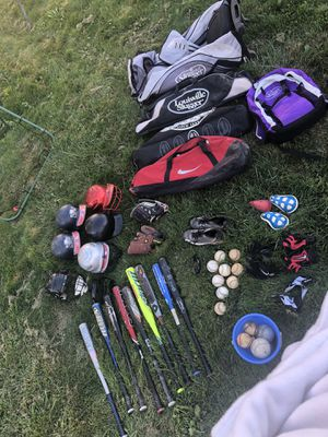 Baseball Gear Bats, Balls, Gloves, Helmets, Cups, Bags, Batting Gloves for Sale in Moonachie, NJ