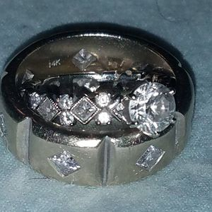 White gold wedding rings: Hers 2.5ct, His 1.4ct for Sale in Spicewood, TX