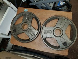 (2) 25LB Olympic Metal Grip Weights/Plates for Sale in Rockledge, FL