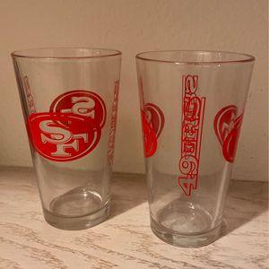 49er Glasses for Sale in Clovis, CA