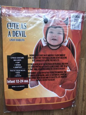 Cute as a devil toddler/infant costume for Sale in San Diego, CA