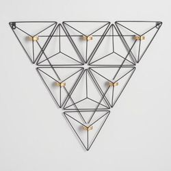 Black Metal Triangle Sconce Wall Decor Candle Holder for Sale in Waltham,  MA