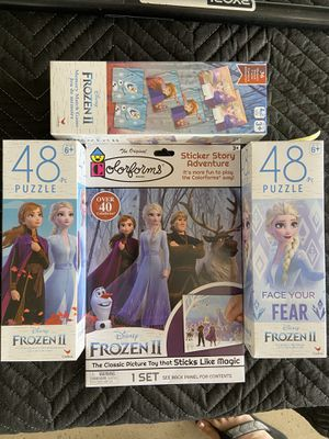 Frozen II activities. Puzzles, memory game and stickers for Sale in Riverside, CA