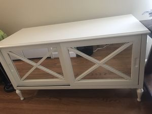 White Mirrored Tv Stand for Sale in Springfield, VA