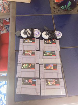 Super Nintendo games and controllers for Sale in Upland, CA
