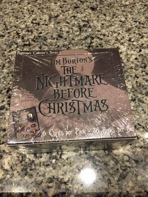 Rare 2001 NECA The Nightmare Before Christmas trading card box for Sale in Tewksbury, MA