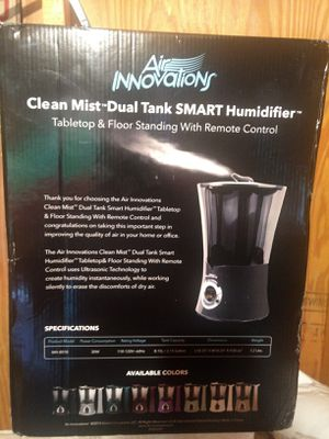 Air Innovations Clean Mist Dual Tank SMART Humidifier NEW IN BOX for Sale in Raleigh, NC