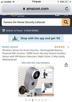Camera for Sale in Enfield, CT
