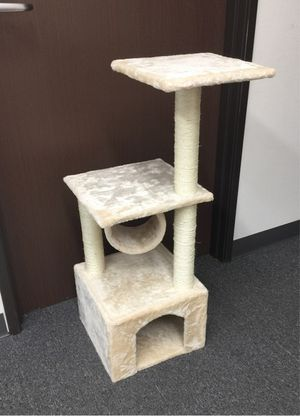 New in box 36 inches tall cat tree tower house scratcher scratching play post pet furniture beige or black color $20 each for Sale in Pico Rivera, CA