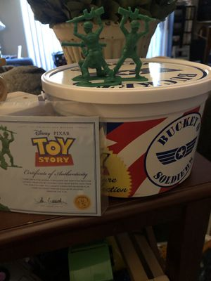 Official signature collection Toy story bucket of soldiers for Sale in Clarksburg, CA