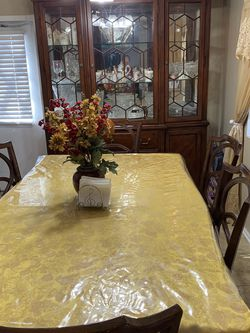 Dining Set 6 Vinyl Chairs And China Hutch for Sale in West Valley City,  UT