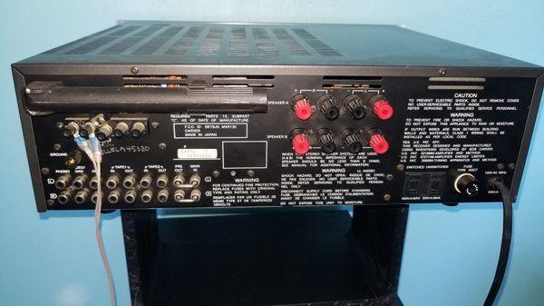 Carver MRX-130 stereo receiver. Sounds as good as yamaha, marantz, pioneer, kenwood, fisher, nakamichi, nikko, sansui, denon, Onkyo. turntable