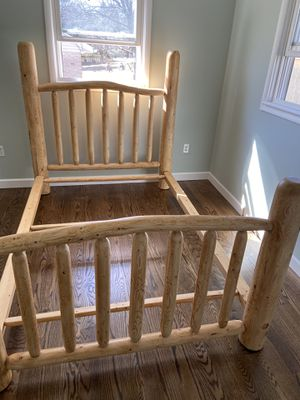 Rustic Pine Log Bed Frame (Made in Wyoming) for Sale in Neffsville, PA