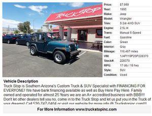 Jeep Wrangler 1995 for Sale in Tucson, AZ
