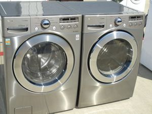 Great lg front load washer and dryer electric high efficiency for Sale in Euless, TX