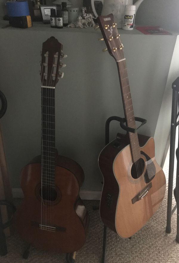 2 Guitars. One Nylon string and one Acoustic