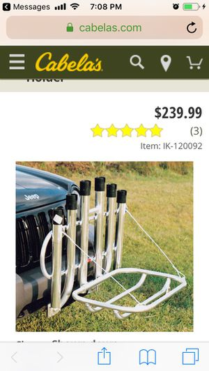 Angler's Fish-N-Mate® Fold-Down Bumper Mount Rod Holder for Sale in Staten Island, NY
