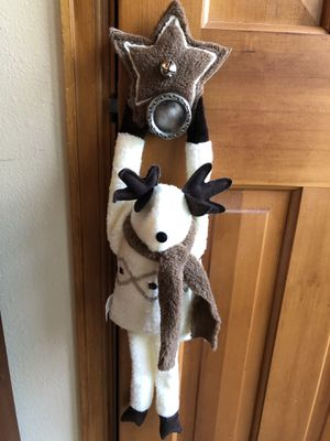 Woof and Poof door hanging fleece reindeer for Sale in Greenwood Village, CO