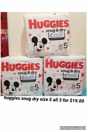 huggies size 5 for Sale in Los Angeles, CA