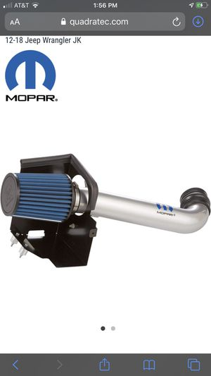 Genuine Mopar Cold Air Intake 2012-2018 Jeep Wrangler 3.6 for Sale in San Antonio, TX