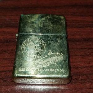 USS Constellation CV 64 Zippo Solid Brass Lighter for Sale in San Diego, CA