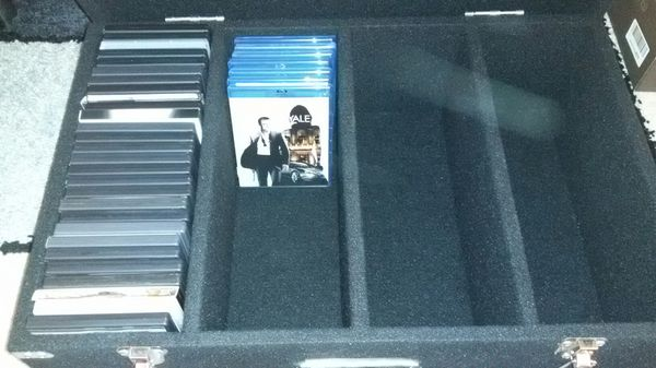 Heavy Duty DVD Blu-ray CD Video Game storage case trunk DJ & 120 free sleeves
