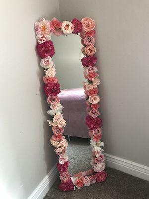 Handmade floral mirror for Sale in Wichita, KS