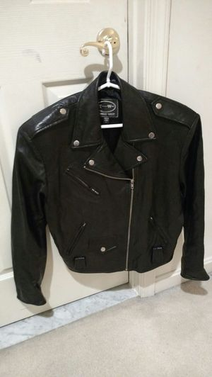 Tannery West Women's Black Leather Motorcycle Jacket for Sale in Severn, MD